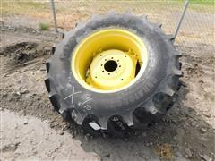 Goodyear 16.9-28 Tires On JD Rims