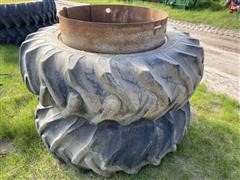 Goodyear 18.4-38 Clamp On Duals & Hardware