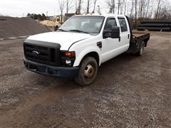 2009 Ford F350XL Super Duty Flatbed Crew Cab Pickup
