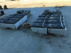White Planter Boxes And Seed Meters