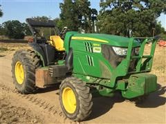 2015 John Deere 6125M Non Cab Orchard Tractor