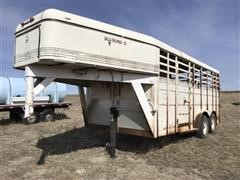 1996 Diamond D T/A Livestock Trailer