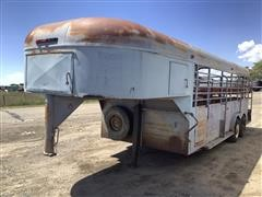 Shop Built 20' Steel T/A Livestock Trailer