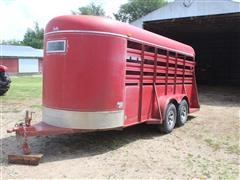 1988 Shelby T/A Bumper Hitch Livestock Trailer