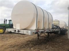 1991 Wilson T/A Flatbed Trailer W/Tanks