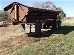 1978 8X27GN T/A 24' Side Dump Trailer