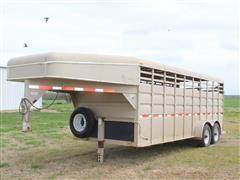 "2006 Circle D Gooseneck 20' X 6' 8"" T/A Livestock Trailer"