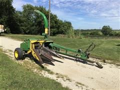 John Deere 3940 Pull Type Forage Harvester And Heads