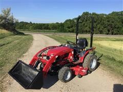 2016 Mahindra EMAX22NH MFWD Compact Utility Tractor W/Loader & Mower