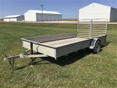2018 Hull 14' S/A Flatbed Utility Trailer