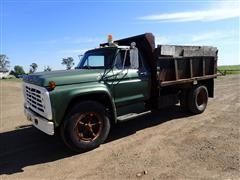 1974 Ford F600 S/A Dump Truck W/10' Drake Box