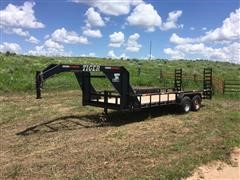 2011 Tiger T/A Gooseneck Trailer W/Fold Down Ramps