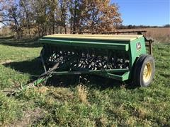 John Deere 8300 Grass/Grain Drill W/Noble Tine Harrow Attachment
