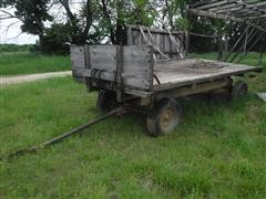 Electric Wheel 650 14' Flatbed Wagon W/Hoist