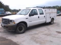 2003 Ford F350 SRW Super Duty Crew Cab Service Truck