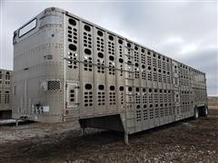 2005 Wilson PSDCL-402 T/A 53' Aluminum Livestock Trailer