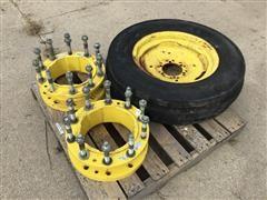 "John Deere Hub Extensions & 18"" Implement Tire"