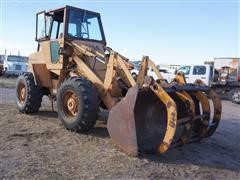 1984 Case IH W14 Wheel Loader With Grapple