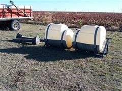 200 Gallon Saddle Tanks w/Mounting Brackets