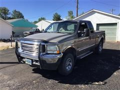2002 Ford F250 4x4 Extended Cab Pickup