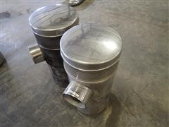 Peterbilt 15X33 Stainless Steel Air Cleaner Canisters