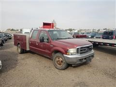 2002 Ford F350 2WD Dually Utility Truck (INOPERABLE)
