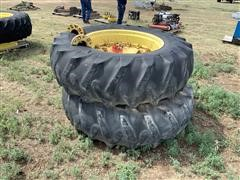 John Deere 4630 20.8-38 Dual Tires & Wheels, With 6 Bolt Hubs