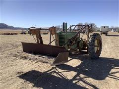 John Deere A 2WD Tractor W/Loader