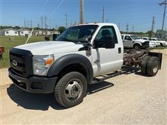 2012 Ford F550 Super Duty 4x4 Cab & Chassis Pickup