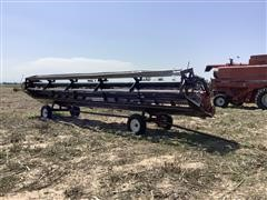 International 1010 Rigid Header W/Trailer