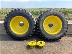 John Deere 20.8x38 Dual Tires & Hubs