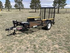 2008 Top Hat S/A 5'X10' Flatbed Trailer