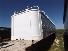 1988 Shop Built Straight Deck Ground Load 42' Livestock Trailer