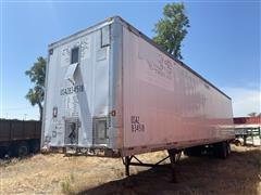 1987 Wabash SA102CW T/A Dry Storage Van Trailer