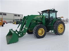 2007 John Deere 7930 MFWD Tractor w/ 746 John Deere Bucket Loader