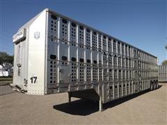 1998 Merritt Tri/A Aluminum Livestock Trailer
