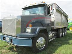 1997 Volvo/Autocar ACL64B Quad/A Grain Truck W/Roll Over Tarp & Silage Sides