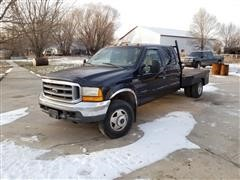 2000 Ford F350 4x4 Flatbed Pickup