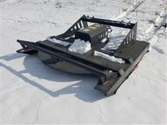 2020 JCT 6' Brush Rotary Cutter Skid Steer Attachment