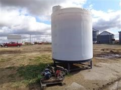 2500-Gal Poly Upright Molasses Tank And Pump