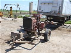 "Fairbanks Morse 6"" Water Pump On Trailer"