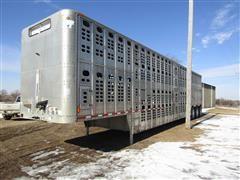 2002 Wilson PSDCL-302 53' Aluminum Tri/A Livestock Trailer