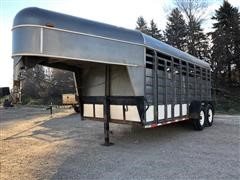 1998 Kiefer Built T/A Livestock Trailer