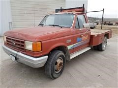 1989 Ford F Super Duty 2WD Flatbed Service Truck