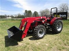 2018 Mahindra 60654FPAL Compact Utility Tractor W/Loader