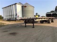 1989 Ravens T/A Spread Axle Flatbed Trailer