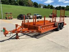 """2000 Rice Special """"UTT Trencher"""" T/A Flatbed Trailer"""