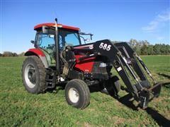 2006 Case IH MXU135 2wd Tractor w/ Koyker 585 Loader