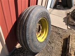 Goodyear 10.00-16 4-Rib Tire On Rim