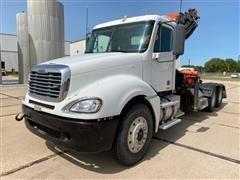 2009 Freightliner Columbia 120 T/A Truck Tractor W/Knuckleboom